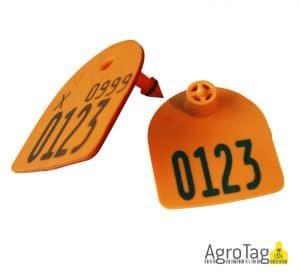 Medium U-mærke m. skærekant og print (orange)