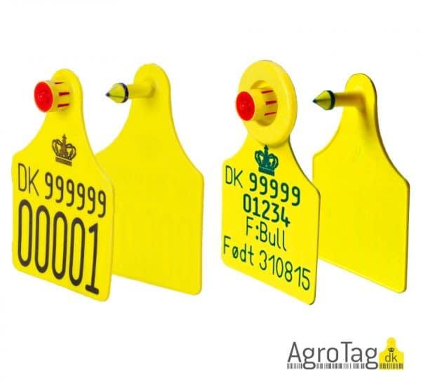 officielt øremærke til kvæg med special tekst AgroTag